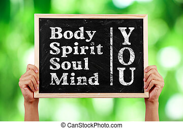 u, lichaam, geest, ziel, verstand