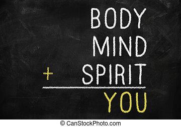 u, lichaam, verstand, ziel, geest
