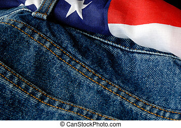 u. s. , χονδρό παντελόνι εργασίας , σημαία