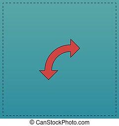 U-Turn computer symbol - U-Turn Red vector icon with black...