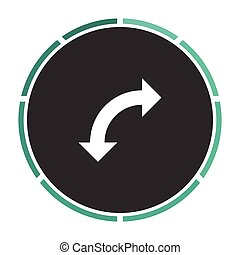U-Turn computer symbol - U-Turn Simple flat white vector...