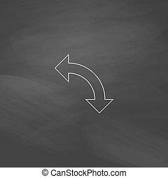 U-Turn computer symbol - U-Turn Simple line vector button....