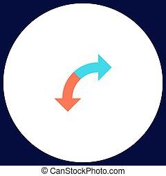 U-Turn computer symbol - U-Turn Simple vector button....