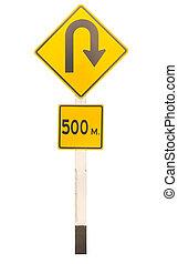 u-turn traffic signage