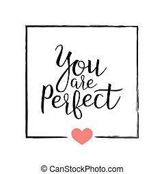 u, zijn, perfect., met de hand geschreven, lettering,...
