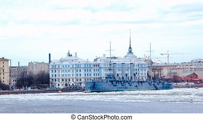 %u0421ruiser Aurora. St. Petersburg. Rus