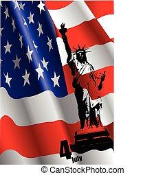 %u2013, 4, egyszínű, július, nap, szabadság