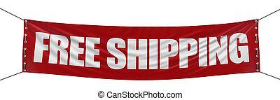 %u201cfree, shipping%u201d, 旗幟
