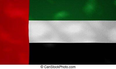 United Arab Emirates dense flag fabric wavers, perfect loop for background
