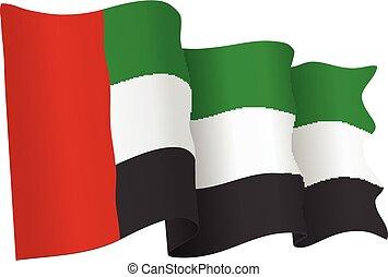 UAE Flag Isolated Vector Illustration