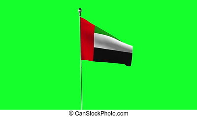 UAE flag animation on a green screen.