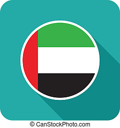 uae flat flag ion