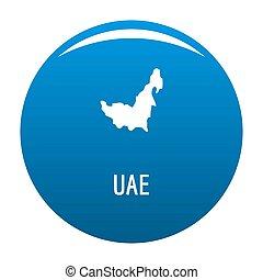 UAE map in black simple