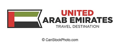 UAE travel destination sign - Vector illustration of United...
