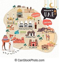 UAE travel map