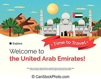 UAE Travel Welcome Banner