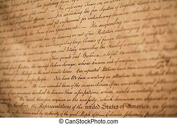 uafhængighed, erklæring