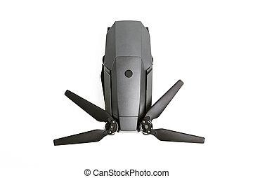 uav, 無人機, copter, 隔離された, 白, バックグラウンド。