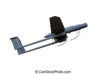 uav army plane isolated