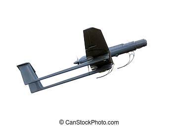 uav army plane isolated