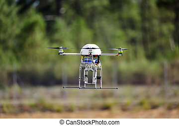 UAV drone flying