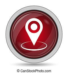 ubicación, alfiler, icono