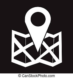 ubicación, icono
