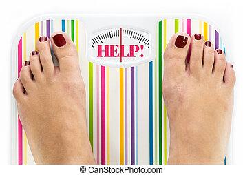 """ubikacja czyszczą z łusek, słowo, nakręcać, feet, """"help"""""""