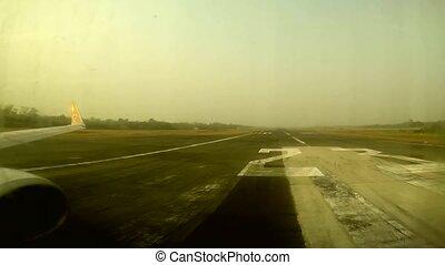Airplane take off Nokair - UBONRATCHATANI, THAILAND - MARCH...