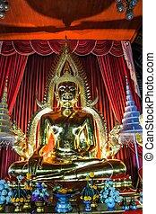 ubonratchathani, thaïlande, wat, luang