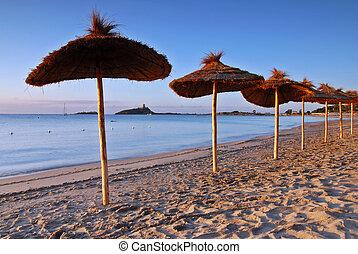 Ubrellas on the beach