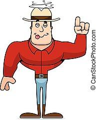 ubriaco, cartone animato, cowboy