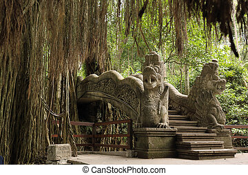 ubud monkey forest - the staiway in the heart of the ubud ...