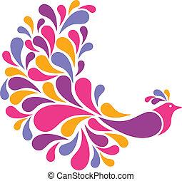uccello, colorito