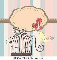 uccello gabbia, invito