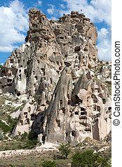 uchisar, hofburg, cappadocia, ansicht