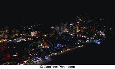 uciekanie się, noc, miasto