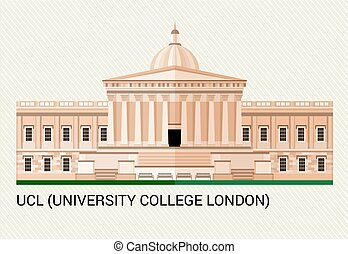 UCL. University College London. Vector Illustration.