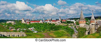 ucrânia, kamenets-podolsky, castelo