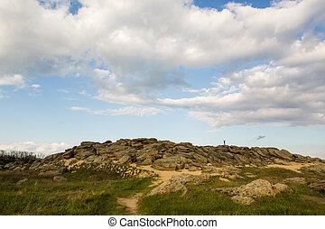 ucrânia, pedra, mohyla, oblast, gama, terpinnya, vila,...