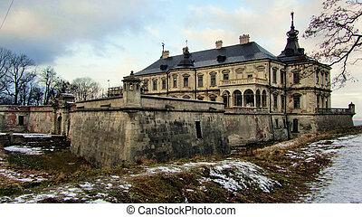 ucrânia, podgoretsky, castelo