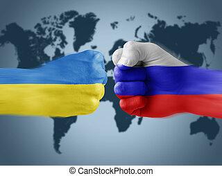 ucrânia, x, rússia