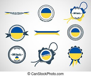 ucraina, badges., fatto, -, sigilli