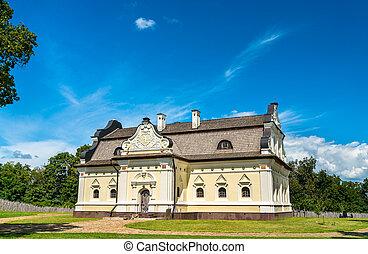 ucraina, casa, baturyn, fortezza, hetman