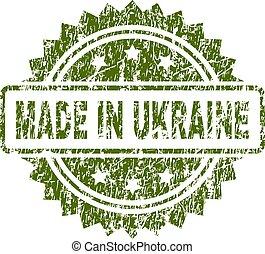 ucraina, fatto, grunge, francobollo, textured, sigillo