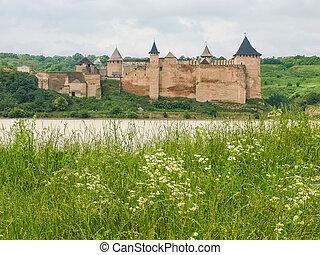 ucraina, khotyn, fiume, dniester, fortezza, banca, vista