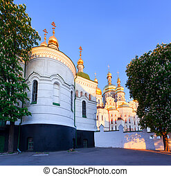 ucraina, kiev, monastero, ortodosso, lavra, pechersk, vista
