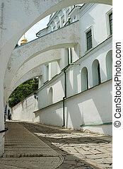 ucraina, kiev, ortodosso, monastero, lavra, pechersk, arco