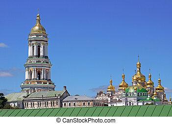 ucraina, kiev, ortodosso, monastero, lavra, pechersk, kyiv, vista