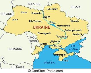 ucraina, mappa, vettore, -, illustrazione